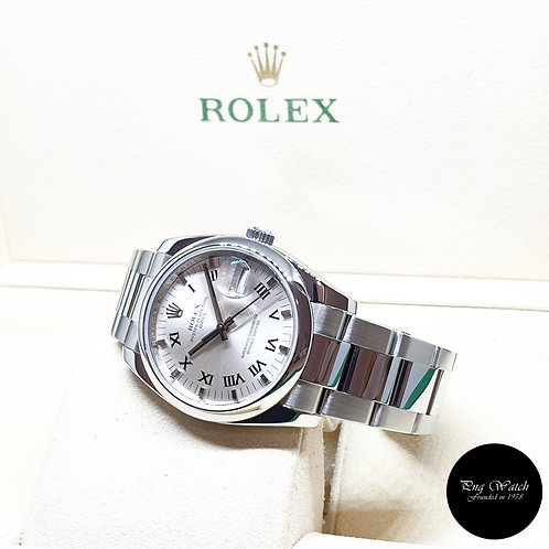 Rolex Silver 34mm Oyster Perpetual Date REF: 115200