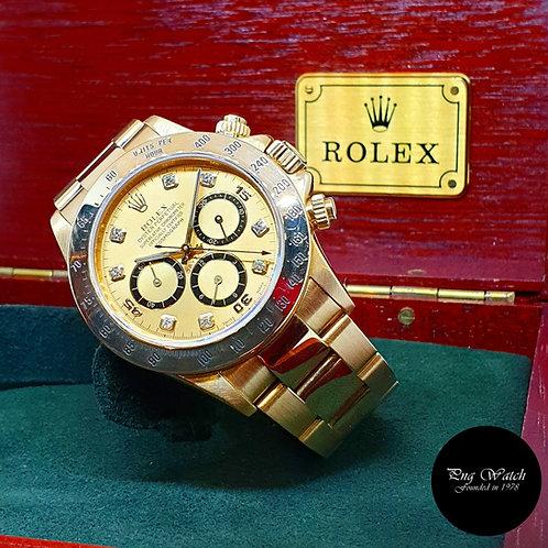 "Rolex 18K Yellow Gold Zenith Mvt ""Inverted 6"" Champagne REF: 16528"