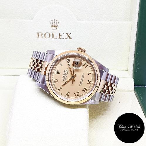 Rolex Oyster Perpetual Champagne Roman Datejust REF: 16233 (L Series)