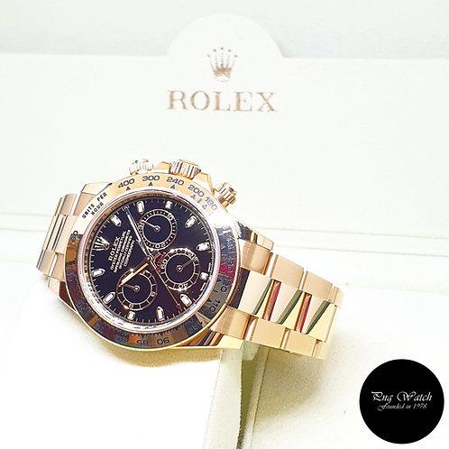 Rolex OP 18K Yellow Gold Black Indexes Cosmograph Daytona  REF: 116508