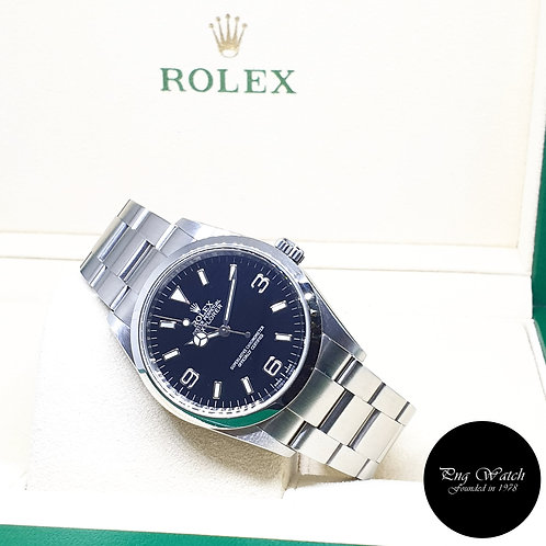 Rolex Oyster Perpetual 36mm Black Explorer One REF: 114270 (Chapter Ring)