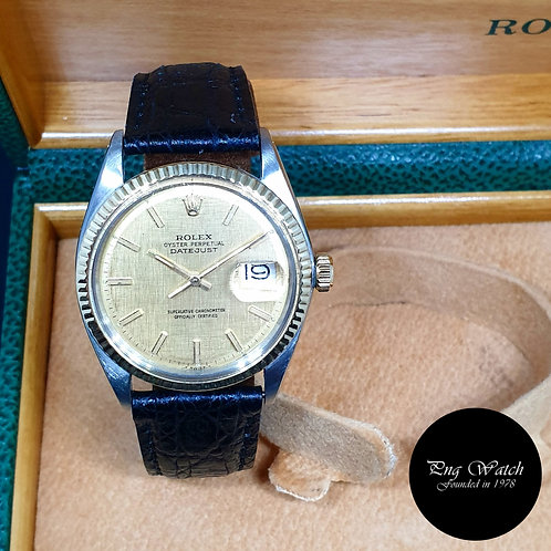 Rolex Half Gold Champagne Textured Indexes Datejust REF: 1601