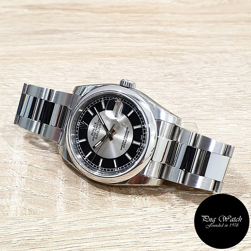 Rolex Oyster Perpetual Tuxedo Dial Datejust REF: 116200 (G)(2)