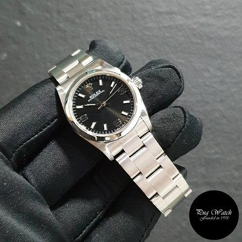 Rolex 31mm Black Oyster Perpetual REF: 77080 (K)(2)