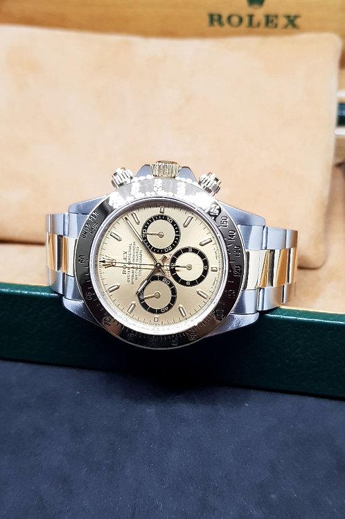 Rolex 18K Half Gold Zenith Cosmograph Daytona REF: 16523