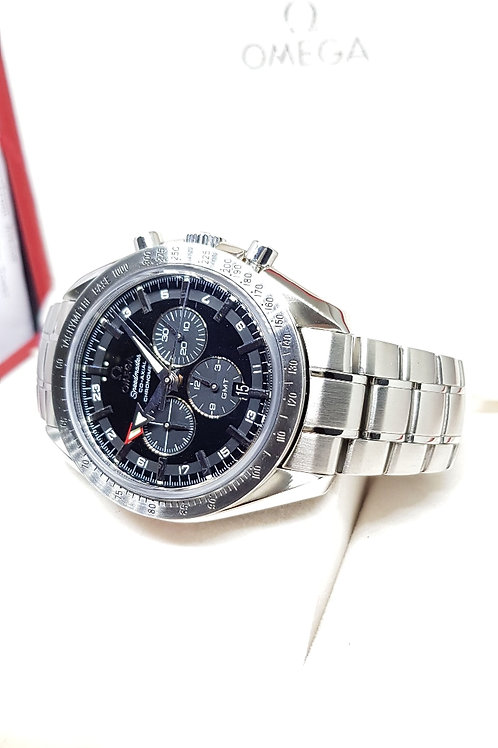 Omega Broad Arrow Speedmaster Co-Axial GMT Chronograph REF: 3581.50.00