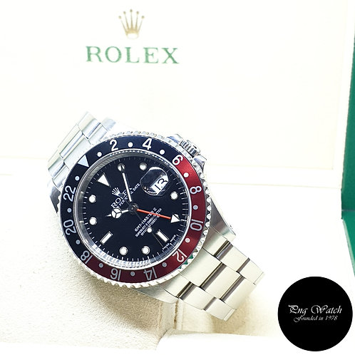 """Rolex Oyster Perpetual """"COKE"""" Black GMT Master 2 REF: 16710 (P Series)"""