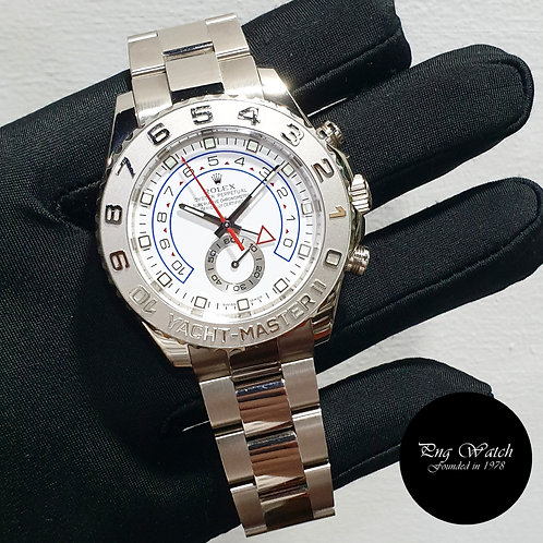 Rolex 44mm Oyster Perpetual 18K White Gold Yachtmaster II REF: 116689 (M)(2)