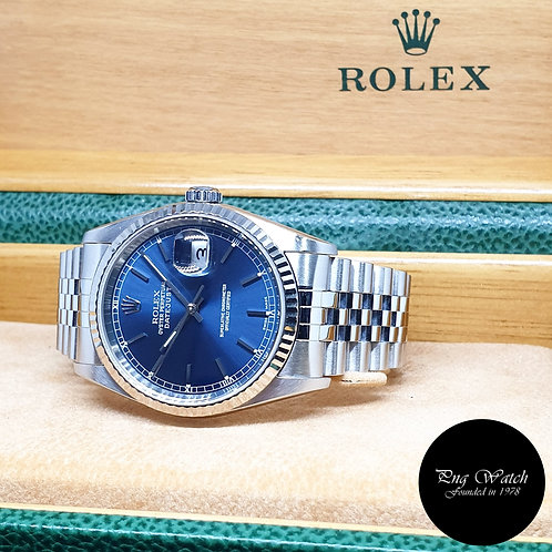 Rolex Oyster Perpetual Blue Index Datejust REF: 16234