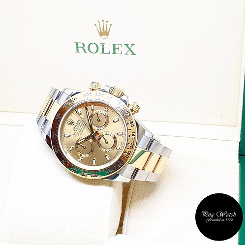 Rolex 18K Half Yellow Gold Champagne Indexes Daytona REF: 116503 (2018)