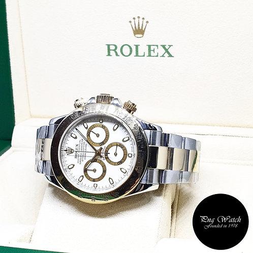 Rolex 18K Half Gold Cream Indexes Cosmograph Daytona REF: 116523