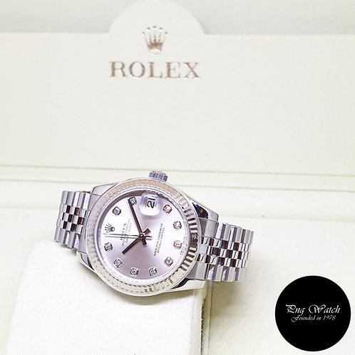Rolex Oyster Perpetual 31mm Silver Diamonds Datejust REF: 178274 (AN Series)