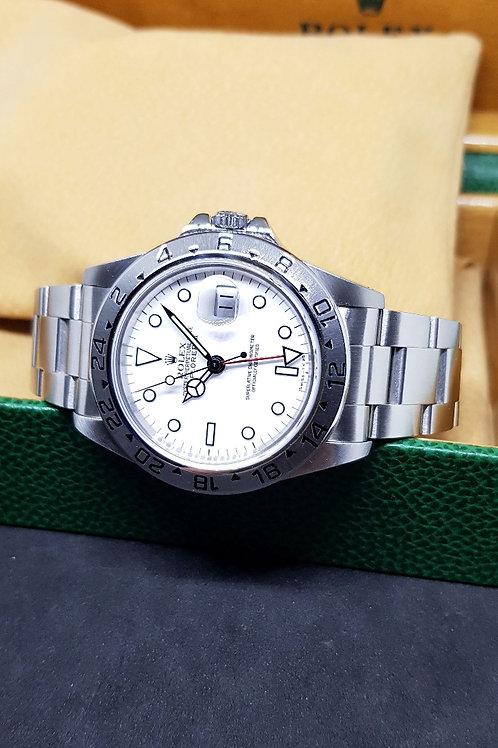 """Rolex Tritium """"POLAR"""" White Explorer 2 REF: 16570"""
