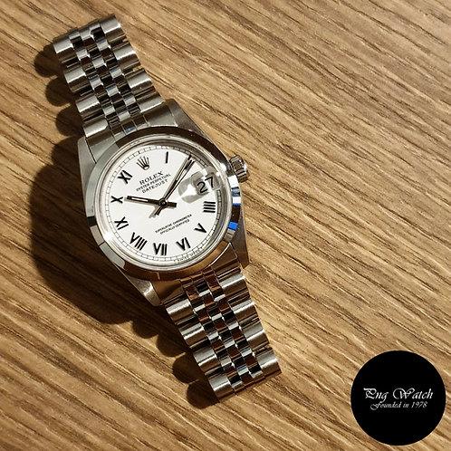 Rolex 31mm White Roman Datejust REF: 68240 (2)