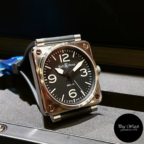 Bell and Ross 46mm Steel Watch REF: BR01-92