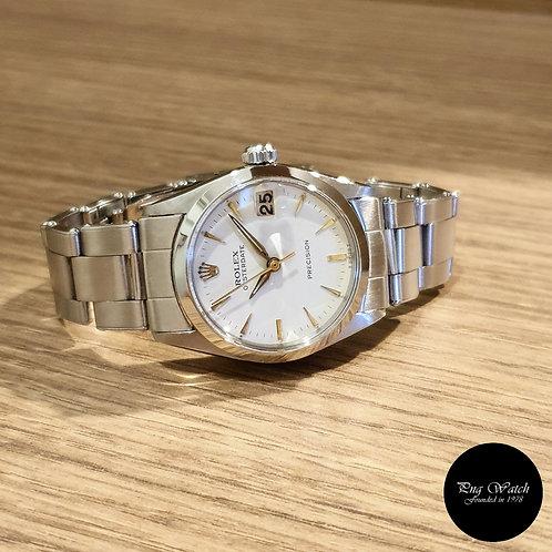 Rolex White Oysterdate Precision REF: 6266 (2)