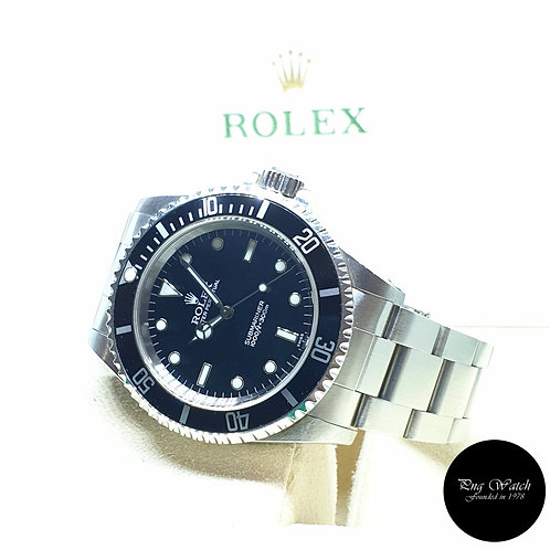 """Rolex Oyster Perpetual Steel No Date Black Submariner """"Swiss Dial"""" REF: 14060"""