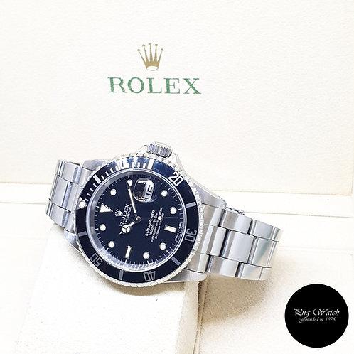 Rolex Oyster Perpetual Tritium Date Black Submariner REF: 16610 (1990)