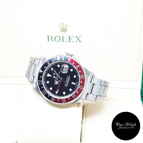 """Rolex Oyster Perpetual """"COKE"""" Black GMT Master 2 REF: 16710 (Y Series)"""