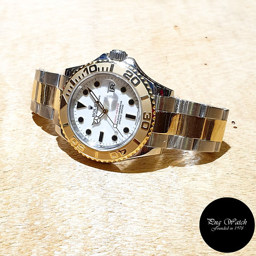 Rolex Oyster Perpetual 18K Half Gold White 40mm Yachtmaster REF: 16623 (G)(2)