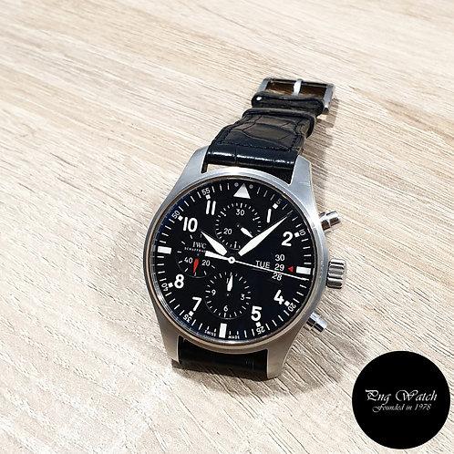IWC Black Flieger Chronograph Pilot's Watch REF: 3777 (15)(2)