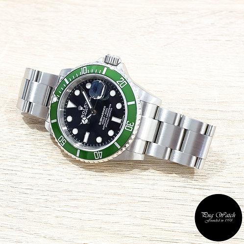 "Rolex Oyster Perpetual ""KERMIT"" Submariner Date REF: 16610LV (2)"