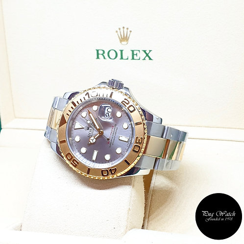 Rolex Oyster Perpetual 18K Half Gold Grey 40mm Yachtmaster REF: 16623 (D)(2)