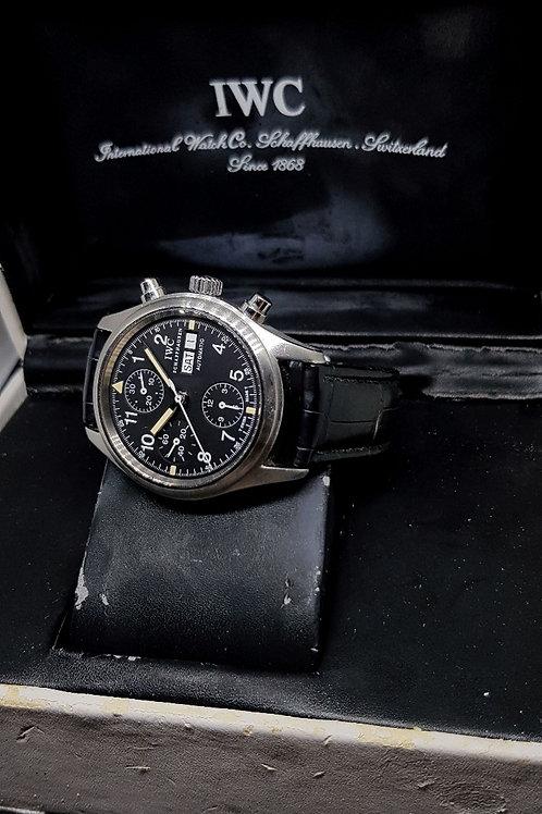 IWC Tritium Black Flieger Chronograph Watch REF: 3706