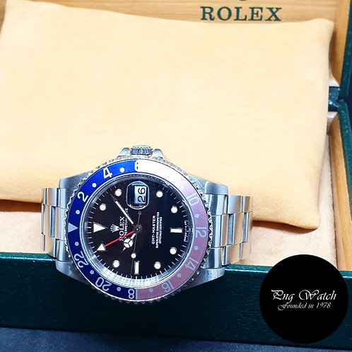 "JRolex Oyster Perpetual Date Tritium ""Pepsi"" Black GMT Master REF: 16700 (L)"