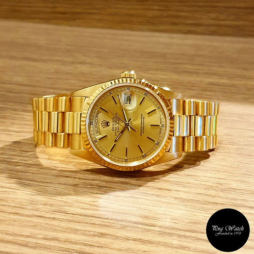 Rolex 18K Champagne Yellow Gold Day-Date REF: 18238 (2)