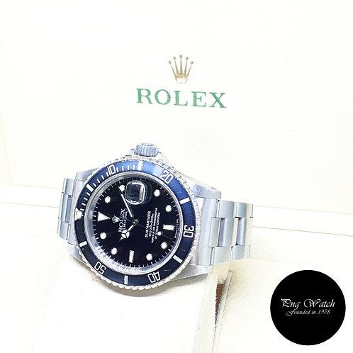 Rolex Oyster Perpetual 40mm Tritium Date Black Submariner REF: 16610 (1991)