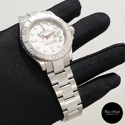 Rolex Oyster Perpetual 40mm Platinum Yachtmaster REF: 16622 (08)(2)