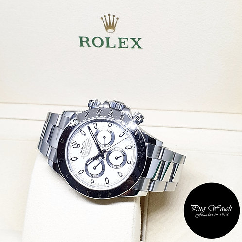 Rolex Oyster Perpetual Steel White Indexes Daytona REF: 116520 (AN Series)