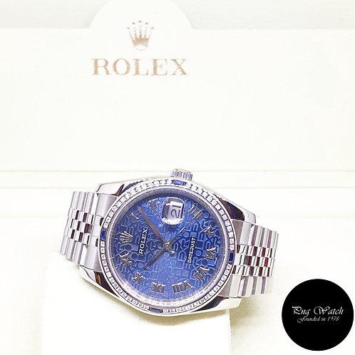 Rolex Oyster Perpetual 36mm Blue Computer Roman Datejust REF: 116234 (D Series)