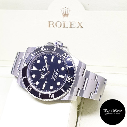 Rolex Oyster Perpetual Steel Ceramic No Date Black Submariner REF: 114060 (AN)