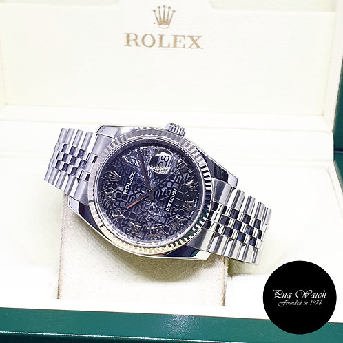 Rolex Oyster Perpetual Black Computer Datejust REF: 116234