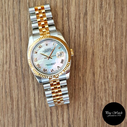 Rolex Oyster Perpetual 18K Half Gold Mother-Of-Pearl Datejust REF: 116233 (2)