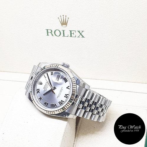 Rolex Oyster Perpetual Rhodium Roman 36mm Datejust REF: 116234 (2015)