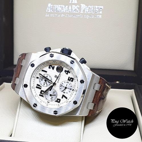 """Audemars Piguet 42mm Royal Oak Offshore """"SAFARI"""" Chronograph REF: 26020ST (2006)"""