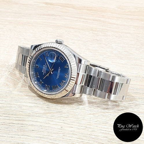 Rolex Oyster Perpetual 41mm Blue Roman Datejust REF: 116334 (AN)(2)