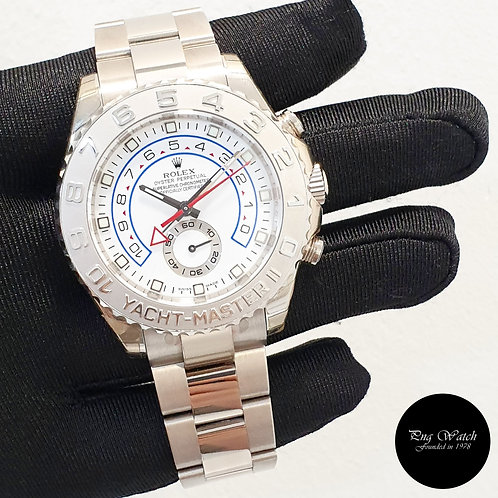 Rolex Oyster Perpetual 18K Full White Gold Yachtmaster II REF: 116689 (2)