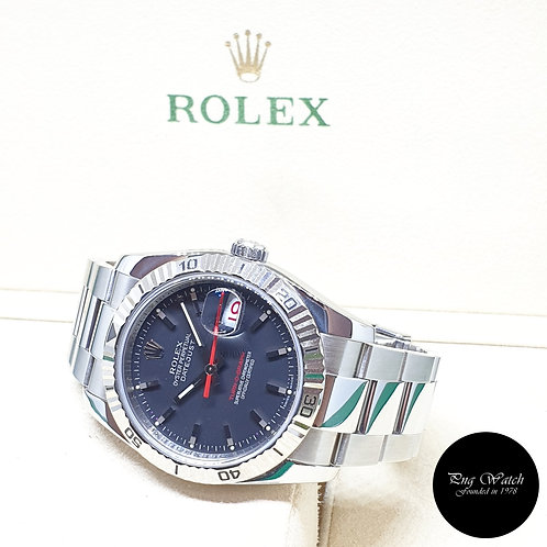 "Rolex Oyster Perpetual Matte Black ""Turn-O-Graph"" Datejust REF: 116264 (2010)"