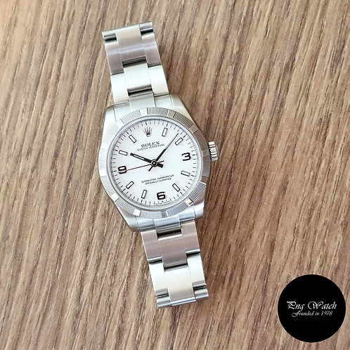 Rolex 31mm White Oyster Perpetual REF: 177210 (2)