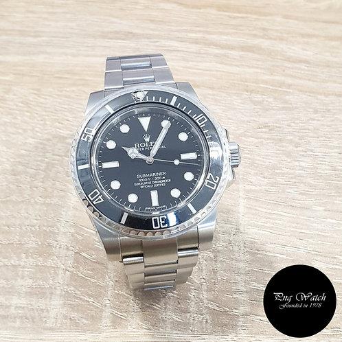 Rolex Steel Ceramic No Date Black Submariner REF: 114060 (12)(2)