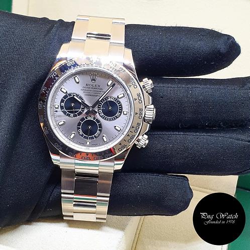 "Rolex Oyster Perpetual 18K White Gold ""PANDA"" Steel Dial Daytona REF: 116509 (2)"