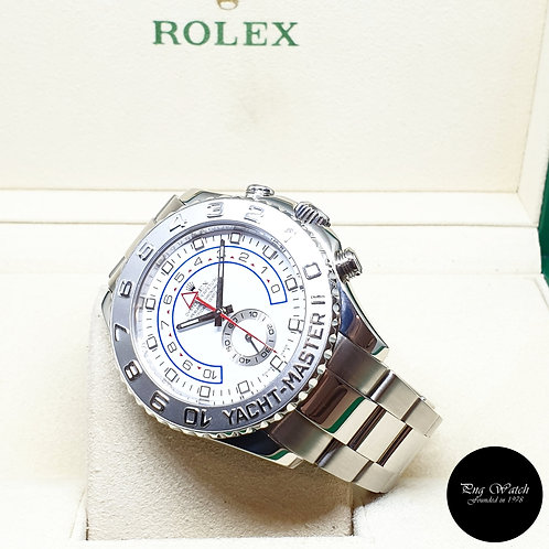 Rolex Oyster Perpetual 18K White Gold 44mm Yachtmaster II REF: 116689 (M)
