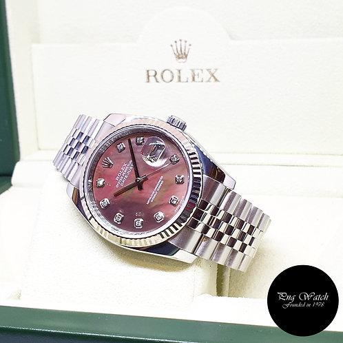Rolex Oyster Perpetual 10PT Big Diamonds MOP 36mm Datejust REF: 116234 (2010)