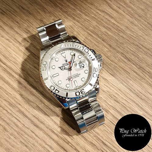 Rolex Oyster Perpetual 40mm Platinium Yachtmaster REF: 16622 (D series)(2)