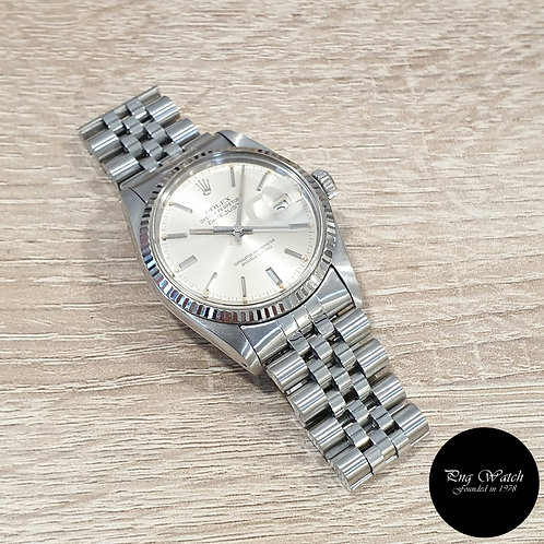 Rolex Oyster Perpetual Tritium Silver Indexes 36mm Datejust REF: 16014 (2)