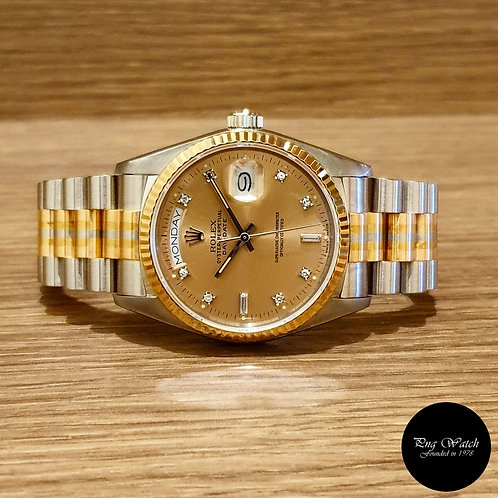 """Rolec Oyster Perpetual Full Gold """"TRIDOR"""" Day-Date REF: 18039BIC (2)"""